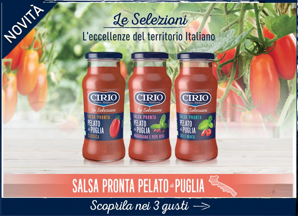 Salsa pronta da Pelato di Puglia Cirio