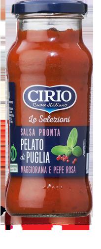 Salsa pronta da Pelato di Puglia Maggiorana e Pepe Rosa